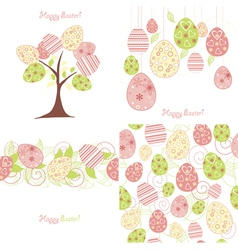easter background set vector image
