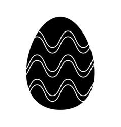 easter egg ornament celebration pictogram vector image vector image