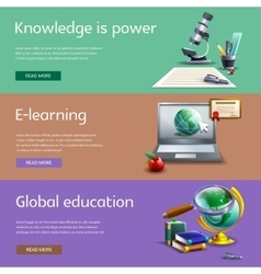 Education and study banners set vector image vector image