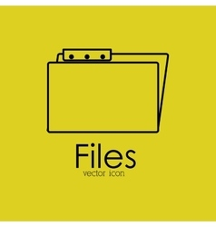 file isolated icon design vector image vector image