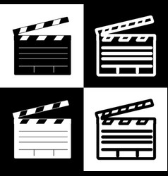 Film clap board cinema sign black and vector