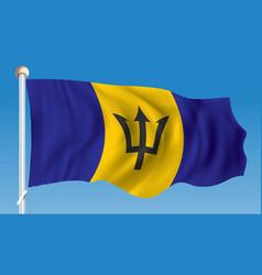 Flag of barbados vector