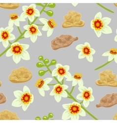 Frankincense seamless pattern boswellia tree vector