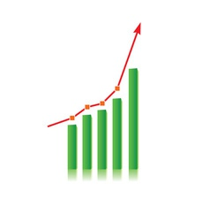 growing bull trend vector image vector image