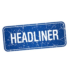 Headliner blue square grunge textured isolated vector