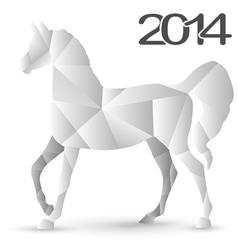 horse mosaic vector image vector image