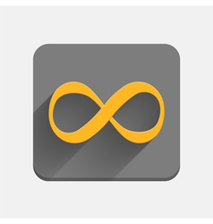 Infinity symbol icon vector