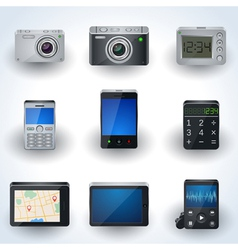 Modern electronic icon collection vector