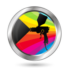 Paint sprayer symbol vector