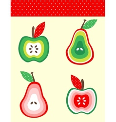 Pears and apples vector image vector image