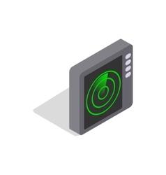 Radar screen icon isometric 3d style vector