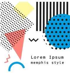 Retro vintage 80s or 90s fashion style Memphis vector image
