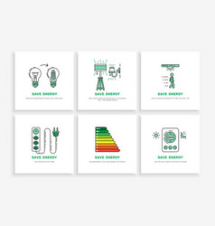 save electricity power vector image vector image