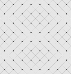 Seamless Geometric Texture with Rhombus and Dots vector image