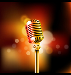 Shining microphone standup comedy show concept vector