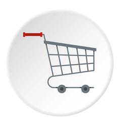 Shopping cart icon circle vector