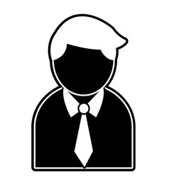 silhouette professional businessman with shirt and vector image