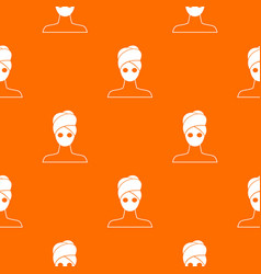 spa facial clay mask pattern seamless vector image vector image