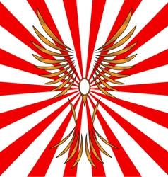 Symbol of a bird vector image vector image