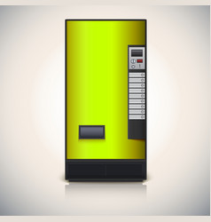 Vending machine for the sale of drinks vector image