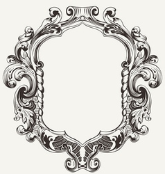 Vintage High Ornate Original Royal Frame vector image