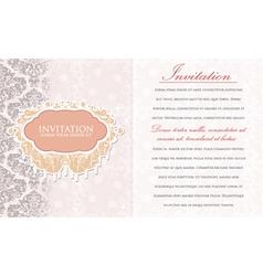 Vintage invitation vector