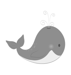 whale cute cartoon vector image vector image