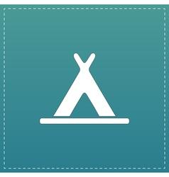 Wigwam flat icon vector