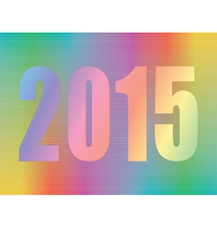 year 2015 hologram vector image vector image