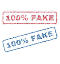 100 percent fake textile stamps vector
