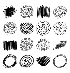 Set of pencil hand drawn doodle borders vector