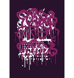 Backgraund graffiti tag vector