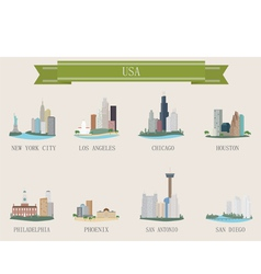 american cities vector image