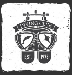 Diving club vector