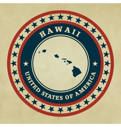 Vintage label hawaii vector