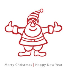 Red santa claus on white background vector