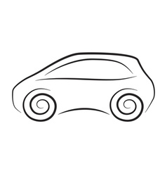 Silhouette of conceptual car vector