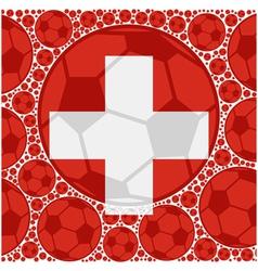 Switzerland soccer balls vector image