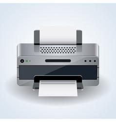 Modern desktop printer icon vector