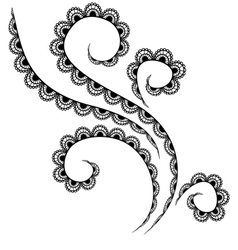 Lace pattern on a white background vector