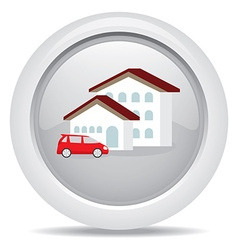 Symbol icon dream luxury house and car business vector