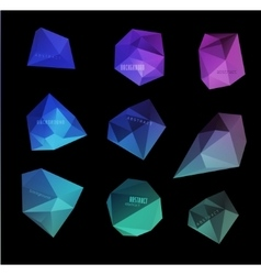 Abstract modern polygonal bubble label website vector
