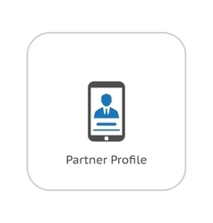 Partner profile icon business concept flat vector