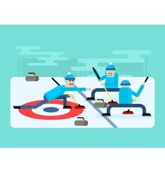 Curling winter game vector