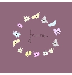 Colored frame for a photo of the hand-drawn vector