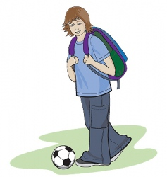 teenager vector image