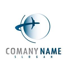 airplane logo vector image vector image
