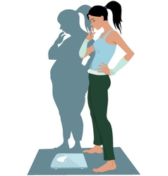 Anorexia vector image