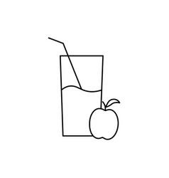 Apple juice icon vector