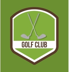 Club of golf sport design vector